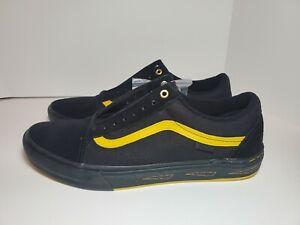 Mens Vans Old Skool Pro BMX Larry Edgar Shoes Black/Yellow #VN0A45JUW8Q Sz 11.5