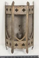 Vintage Antique Brass Metal Wall Sconce Lamp Haunted House Mansion g25