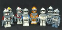 Custom Lego Star Wars Clone Commander Set of 8- Fox, Rex, Wolffe