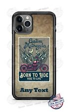 Born to Ride Custom Motorcycles Phone Case For iPhone Samsung S20 Plus LG Google