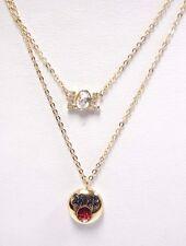 Retired Humorist Lol Emoji Pendant Set Gold Plate Swarovski Jewelry 5351571
