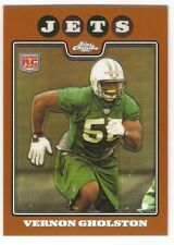 VERNON GHOLSTON COPPER REFRACTOR ROOKIE 2008 TOPPS CHROME 237 SERIAL #/425 JETS