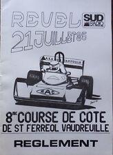REGLEMENT PM 8ème COURSE de COTE REVEL SAINT FERREOL VAUDREUILLE 1985 PYRENEES