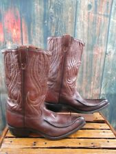 Vintage Mens Sears Brown Leather Cowboy Western Boots size: 9 D
