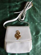 Vintage Designer SONIA RYKIEL White Leather Crossbody HANDBAG