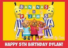 BANANAS IN PYJAMAS EDIBLE IMAGE CAKE TOPPER BIRTHDAY PARTY KIDS