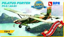 Pilatus Porter AU-23 Peacemaker (PhotoEtched, Resin Parts, Decal) 1/72 BPK 7211