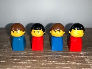 LEGO vintage finger puppet figures (part 4224c02) - 1980s x 4 (2 male, 2 female)