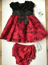 New Rare Editions 18 Months Girl Holiday Dress  2-pc set