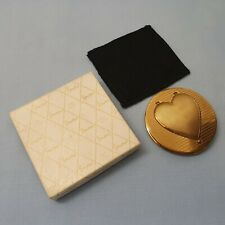 VINTAGE BRASS STRATTON POWDER COMPACT WITH PHOTO LOCKET