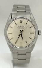 ROLEX OYSTER PERPETUAL AIR-KING SILVER DIAL STAINLESS STEEL WATCH 34mm 5500