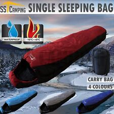 -10°C Mummy Outdoor Camping Sleeping Bag Thermal Winter Hiking Tent 220 by 80 cm