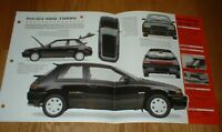 ★★1990 MAZDA 323 4WD TURBO ORIGINAL IMP BROCHURE 85 86 87 88 89 90 91 92 93 94★★