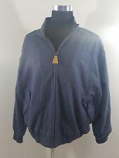 Orvis 100% Wool Tweed Herringbone Mens Jacket Size XXL Blue