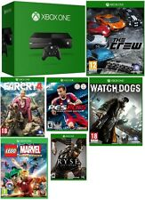 Microsoft Certified Xbox One 1TB Gaming Console MATTE BLACK - 6 GAME BUNDLE