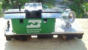VRG TYCO HO Scale Model Trains Burlington Northern Work Caboose Searchlight