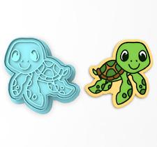 Sea Turtle Cookie Cutter & Stamp | Ocean Tortoise Animal Tortuga Summer Beach #2