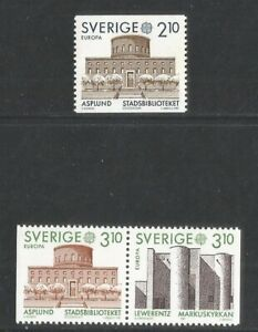 Sweden 1987 Europa/Architecture--Attractive Topical (1628-30) MNH