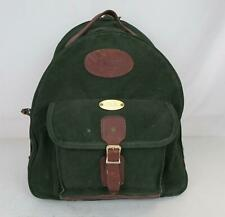 New listing Vintage Orvis Backpack Canvas Leather Trimmed Hiking Green