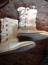 Uggs Heirloom Beige Corset Lace Back Boots, Size 10! Gorgeous!