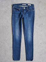 Levis 711 Skinny Blue Premium Italian Mid Rise Womens Jeans Size 8 W26 L32