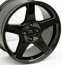 "17"" Black 03 Cobra Mustang Replica Wheels (4) 17x9 4x108 +18mm Terminator 87-93"