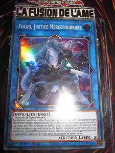 YU-GI-OH! SUPER RARE FOLGO JUSTICE MERCEFOURRURE SOFU-FR047 NEUF EDITION 1 FR
