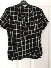 Girls Black & White Short Sleeve River Island  Check Shirt 12 Years