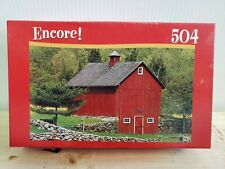 Puzzle 504 Piece RED BARN FARMHOUSE Encore Factory Sealed Old Stock NEW, SEALED!