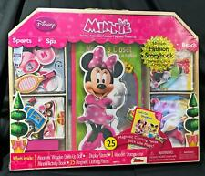 New Minnie Mouse Dress-Up Fun Magnetic Wooden Doll w/Storage Activity Set Disney