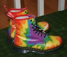 Doc Martens Tie-Dye Pride 1460 Boots Size 7 US
