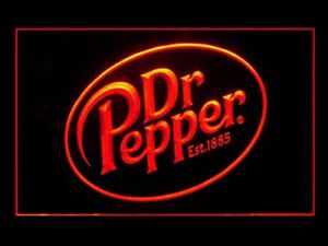 Dr Pepper Led Sign Light Hanging Acrylic Engraved