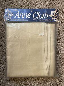 "Leisure Arts Anne Cloth Beige Afghan 18 Count For Cross Stitch 45'' X 58"" NIP"