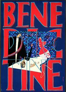 Original Vintage Poster Benedictine Mariscal Restaurant Beverage Booze Drink 90s