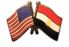 Egypt Friendship with US Flag Lapel Badge Pin