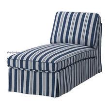 Ikea COVER for EKTORP Chaise  Lounge Ektorp SLIPCOVER Abyn Blue Stripes Nautical