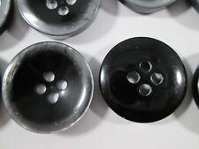 Knopf Knöpfe 15 stück  schwarz glänzend    knöpfe 23  mm groß #2635#