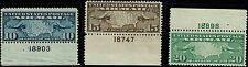 #C7-9 PLATE NUMBER SINGLES 1927 MAPS AND PLANES AIRMAIL ISSUES MINT-OG/NH