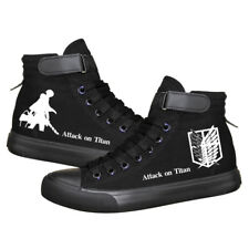 Attack On Titan Canvas Shoes Mens Womens Anime Shoes Casual Flat Couple Shoes
