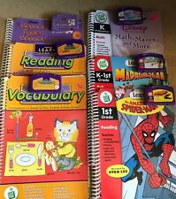 #81 leap pad leap frog 6 used books w/cartridges