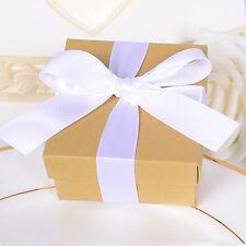 10*Boîte d'emballage cadeau Anniversaire ruban unique portable occasions mariage