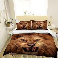3D Ferocious Lion Teeth R741 Animal Bed Pillowcases Quilt Duvet Cover Queen Kay