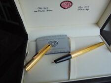 AURORA 98 MODELLO MILLERIGHE PENNA STILOGRAFICA ORO 22K+GAR +BOX Fountain Pen 96
