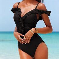 45| maillot de bain 1 pièce à froufrou-monokini-malliot de bain femme-bikini