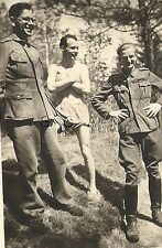 WWII German RP- Soldier- Semi Nude- Gay Interest- In Shorts- Outdoors- 1940s