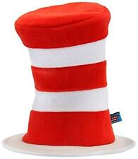 Cat in the Hat Velboa Hat Dr. Seuss Fancy Dress Up Halloween Costume Accessory