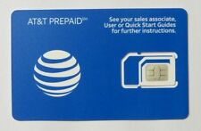 Lot Of 50 Brand New Prepaid At&T 4G Lte Triple Sim Card 3 In 1 Att