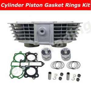47mm Big Bore CYLINDER 2 PISTONS For Honda CB125 TWIN CB125T CA125 Rebel CD125