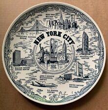 1970s New York City Souvenir Plate, World Trade Center, Spin Original, Usa