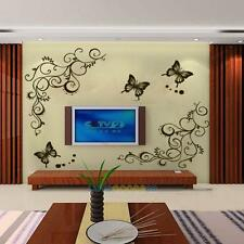 New Removable Butterfly Fly Flower Wall Stickers Decal Art Vinyl Home Room Decor